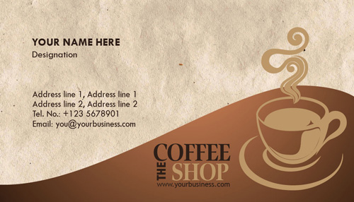 Coffee Shop Business Cards Design Coffee Business Cards