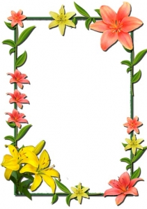 Photoshop flower frame design