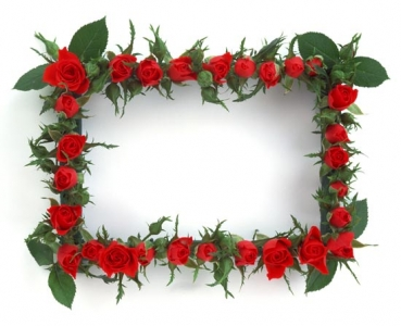 Flower frame template