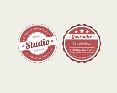 Photoshop layered badges design