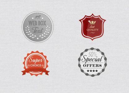 Photoshop layered badges design