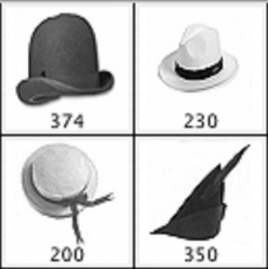 Vintage hat brush template