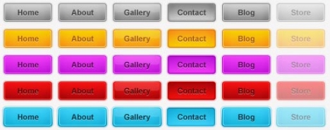 Photoshop web buttons