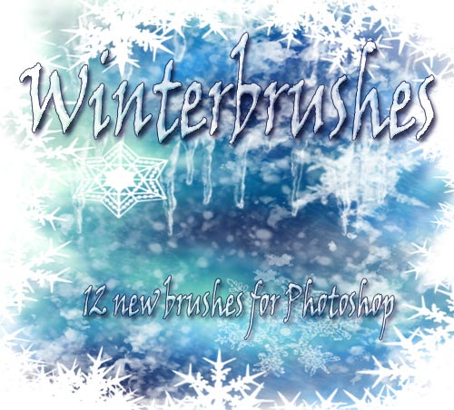 Photoshop winter snowflakes brushes