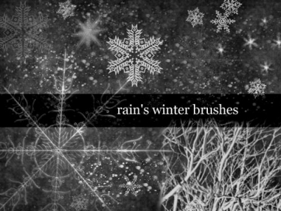 winter snowflakes template