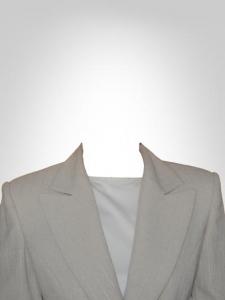 Transparent woman suite for documents