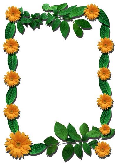 Flower Frames - Frame Photoshop Brushes | BrushLovers.com