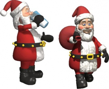 Christmas Santa cartoon vector elements