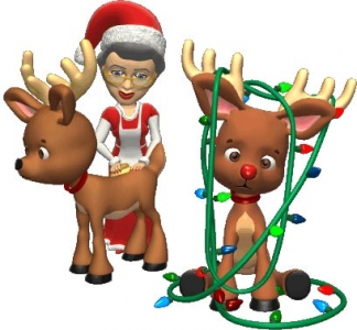 Christmas reindeer cartoon vector elements