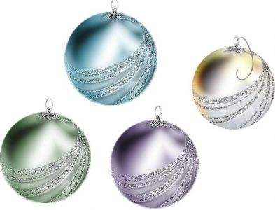 Christmas light balls cartoon vector elements