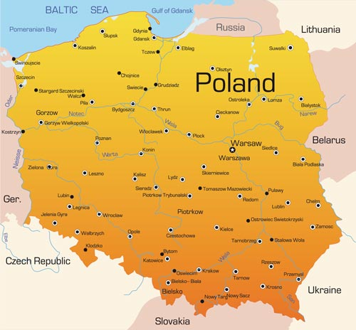 Poland Vector Maps - Poland map