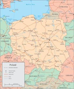 Poland vector map