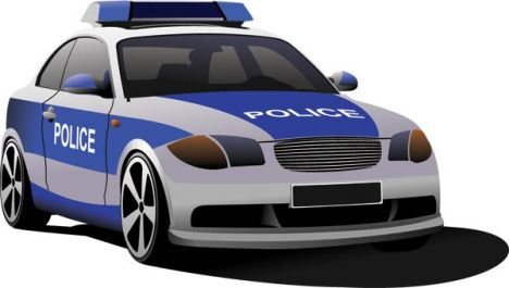 PrintPolice car vector templates