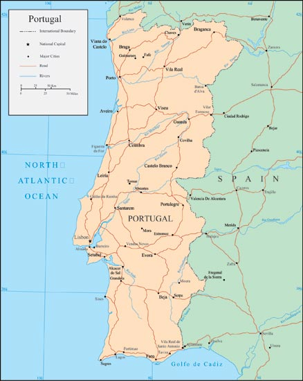 Portugal Vector Maps - Portugal map vector