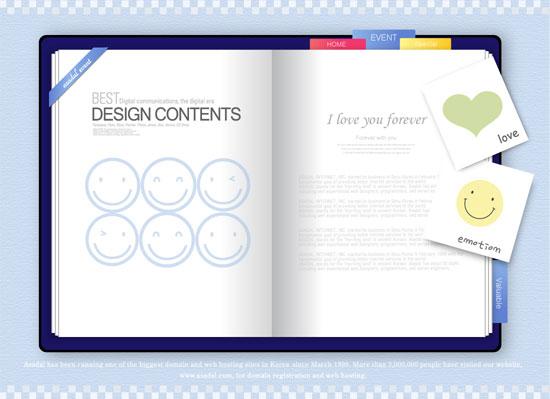 postcard frame design vector