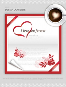 Postcard frame design vector