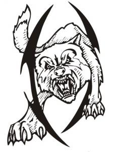 Animal predator tattoo vector silhouette