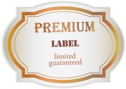 Premium ribbons and labels vectors