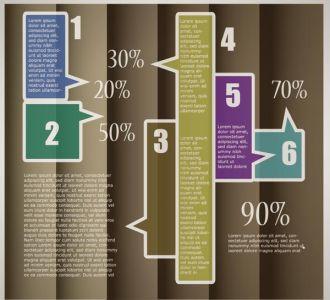 Presentation templates infographics vector