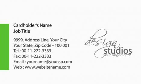 Print studio business cards vectors