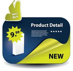 Sales label vector template