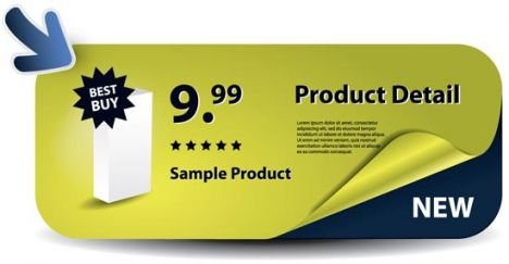 Sales label vector design