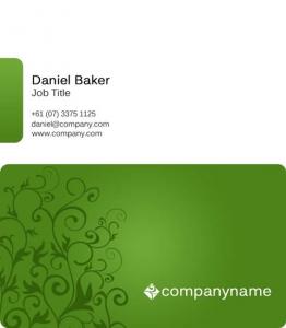 Photoshop business card theme