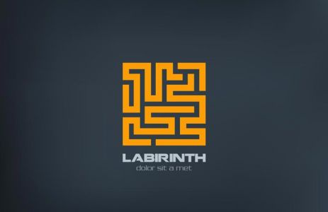 Logo Labyrinth vector icon design template