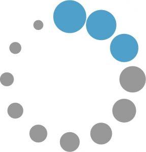 Progress blue circles loader vector