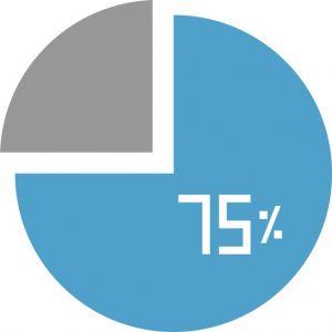 Blue progress circle pie loader vector
