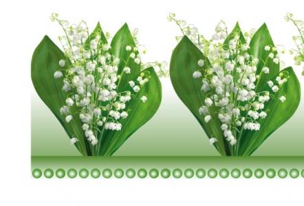 Photoshop floral border frame design