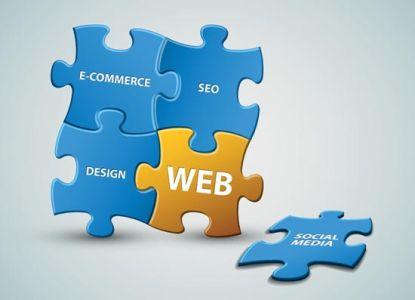 Puzzle web vector