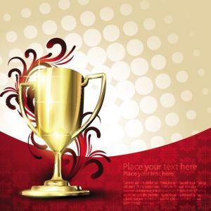 Racing trophy cup vectors