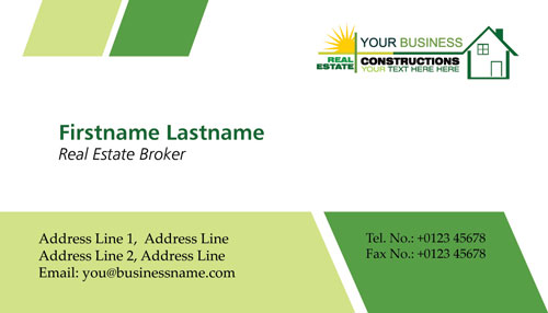 Real estates business cards vectors real estates business cards reheart Choice Image