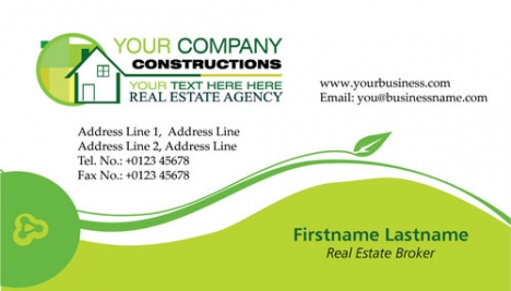 Real estates business cards