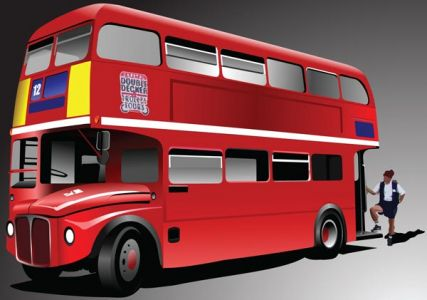 Red london bus vector