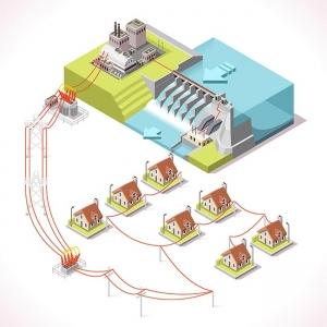 Energy 14 Infographic Isometric