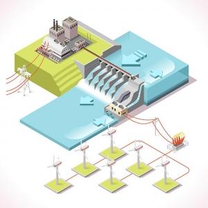 Energy 15 Infographic Isometric