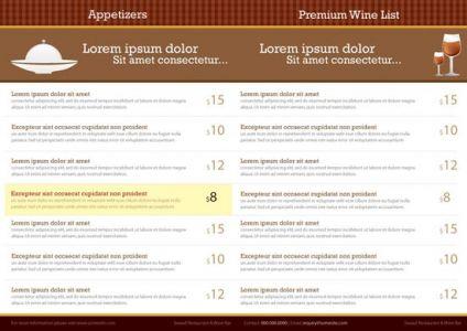 Restaurand menu card vector