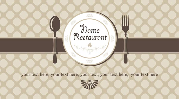 Restaurant business cards eps vector models reheart Choice Image