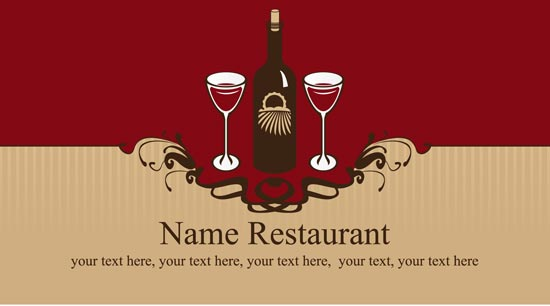 Restaurant business cards vector models colourmoves