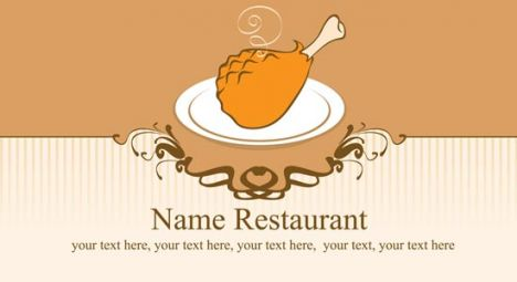 Restaurant business cards vector models