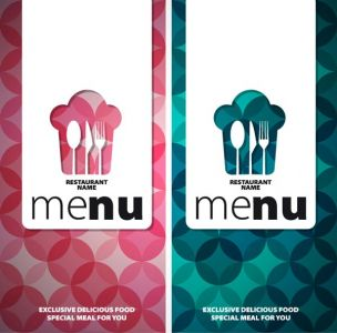 Restaurant business covers vector