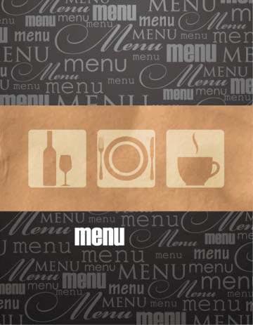 restaurant menu booklet design vector