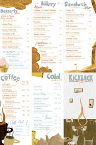 Restaurant menu card design