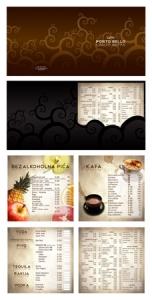 Restaurant menu card design