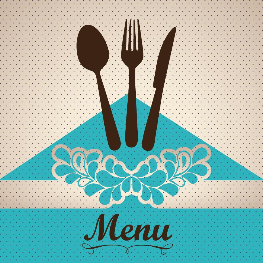 Restaurant menu cover vector