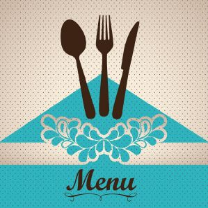 Restaurant menu cover layout