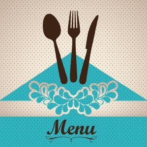 Restaurant menu cover layout