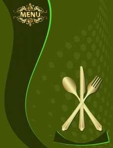 Restaurant menu vector